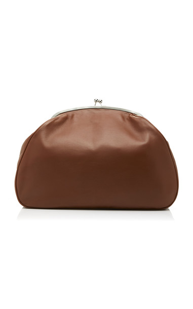 Marina Moscone Exploded Leather Coin Purse in brown