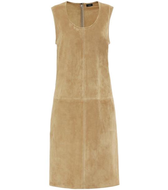 Joseph Patty suede shift dress in beige