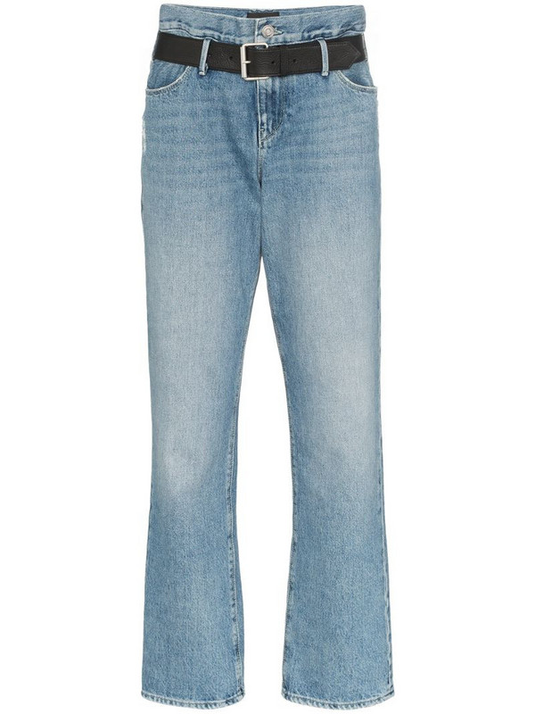 RtA Dexter belted boyfriend jeans in blue