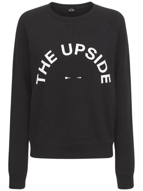 THE UPSIDE Bondi Horseshoe Crew Sweatshirt in black