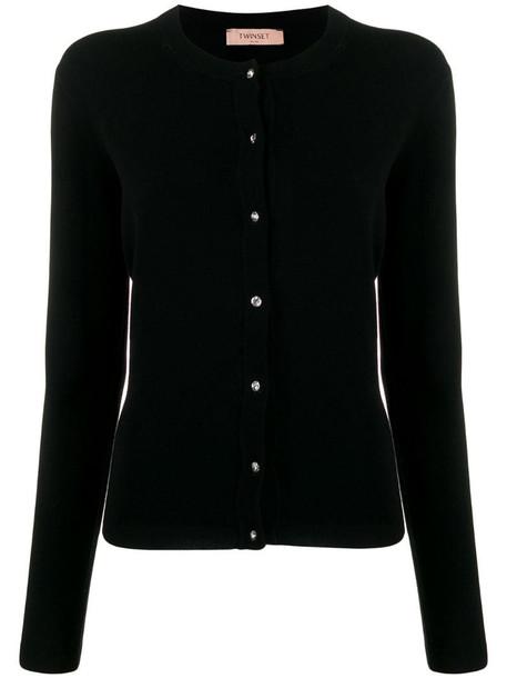 Twin-Set slim-fit knit cardigan in black