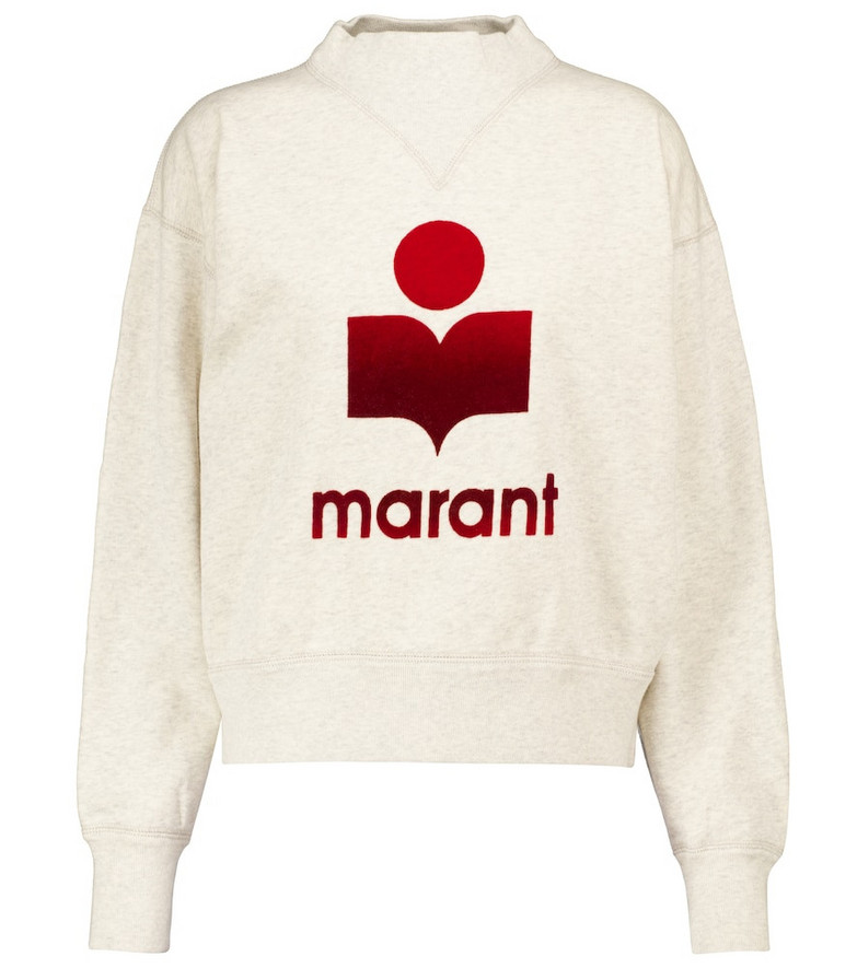 Isabel Marant, Étoile Moby logo cotton-blend sweatshirt in white
