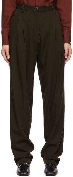 Maiden Name SSENSE Exclusive Brown Emily Trousers in chocolate