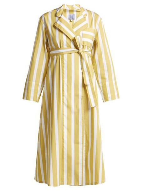 Thierry Colson - Sasha Striped Cotton Poplin Dress - Womens - Yellow Multi