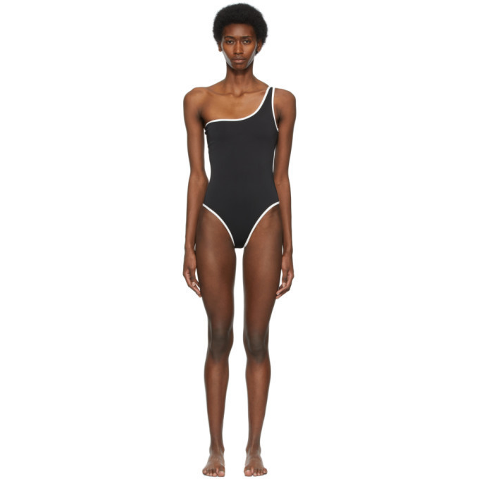 SIR. SIR. Black One-Shoulder Claude One-Piece Swimsuit