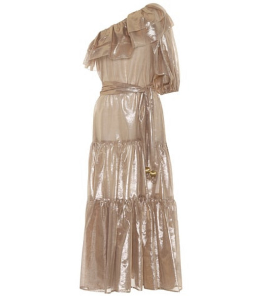 Lisa Marie Fernandez Arden metallic maxi dress in gold
