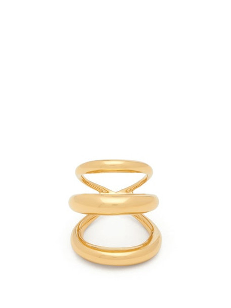 Charlotte Chesnais - Echo Triple-band 18kt Gold-vermeil Ring - Womens - Gold