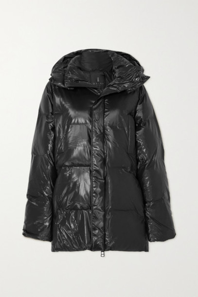 Rains - Hooded Quilted Padded Glossed-shell Coat - Brown