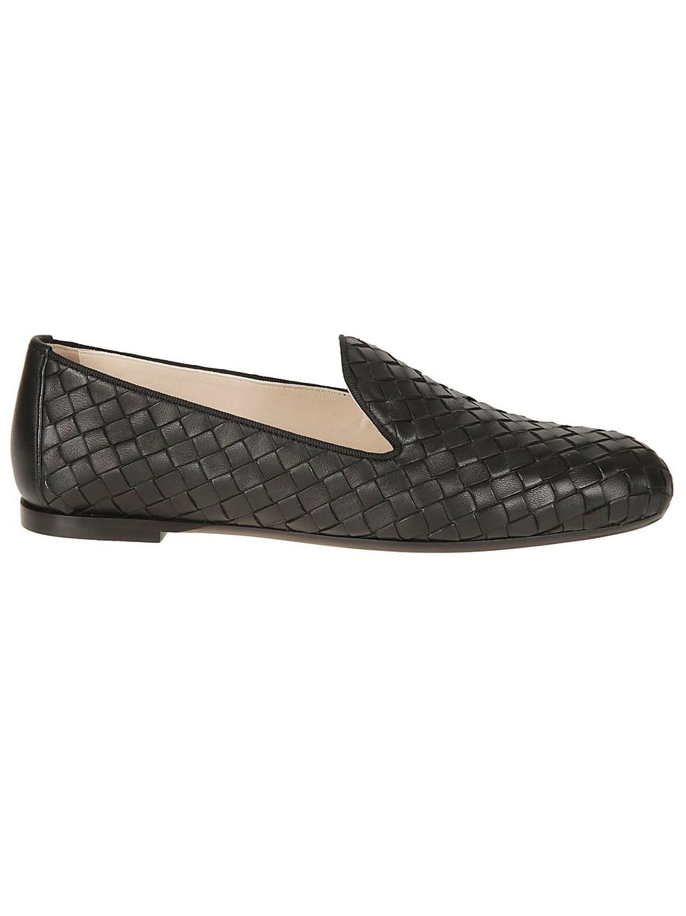 Bottega Veneta Intrecciato Slippers in black