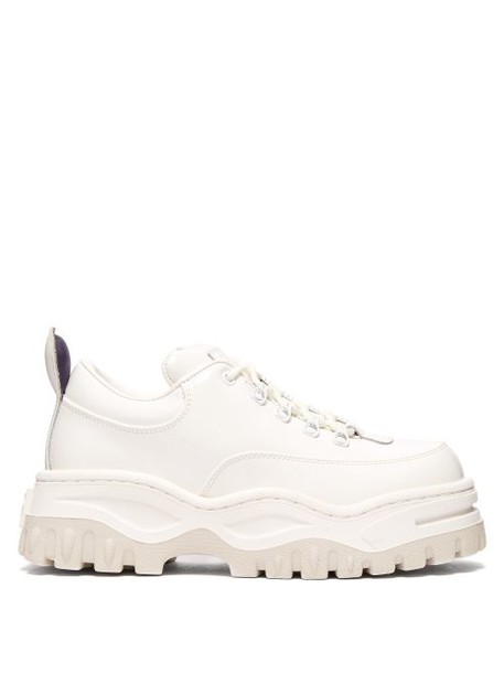 Eytys - Angel Exaggerated Sole Leather Trainers - Womens - White