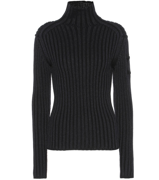 Chloé Ribbed wool-blend sweater in blue