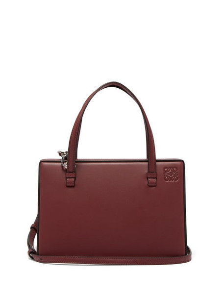 Loewe - Postal Medium Leather Bag - Womens - Burgundy