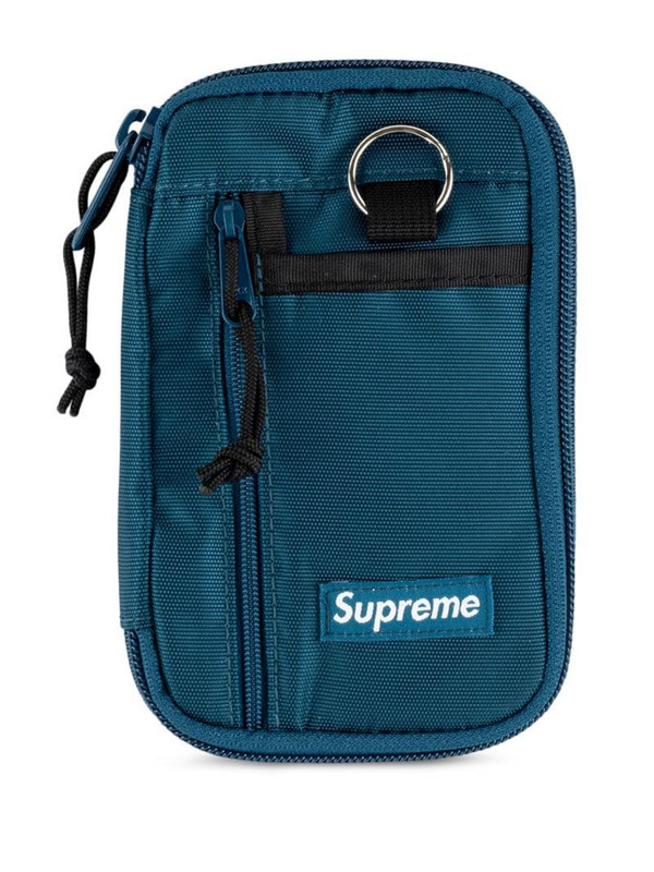 Supreme small zip pouch in blue