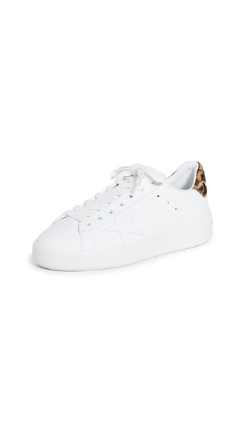 Golden Goose Pure Star Sneakers in brown / white