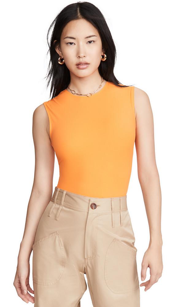 Alix Lenox Thong Bodysuit in orange