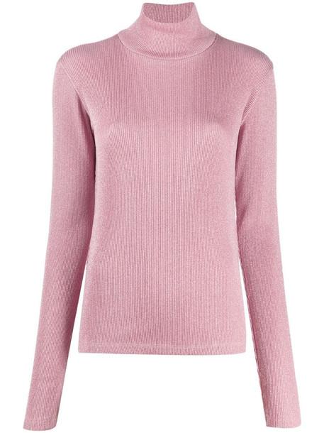 MM6 Maison Margiela rollneck rib-knit jumper in pink