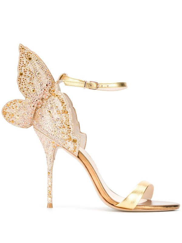 Sophia Webster embellished butterfly sandals in gold