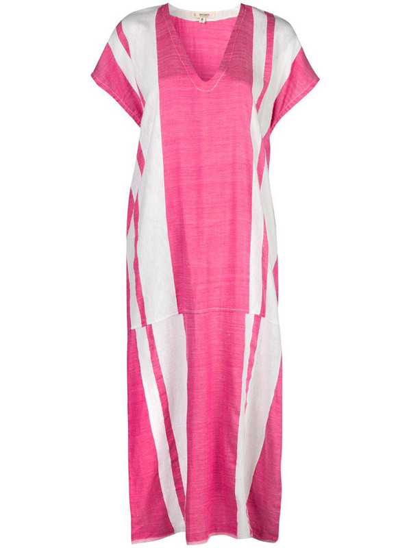 lemlem Zoya striped kaftan dress in pink