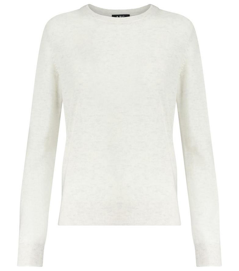 A.P.C. Nola cashmere sweater in white