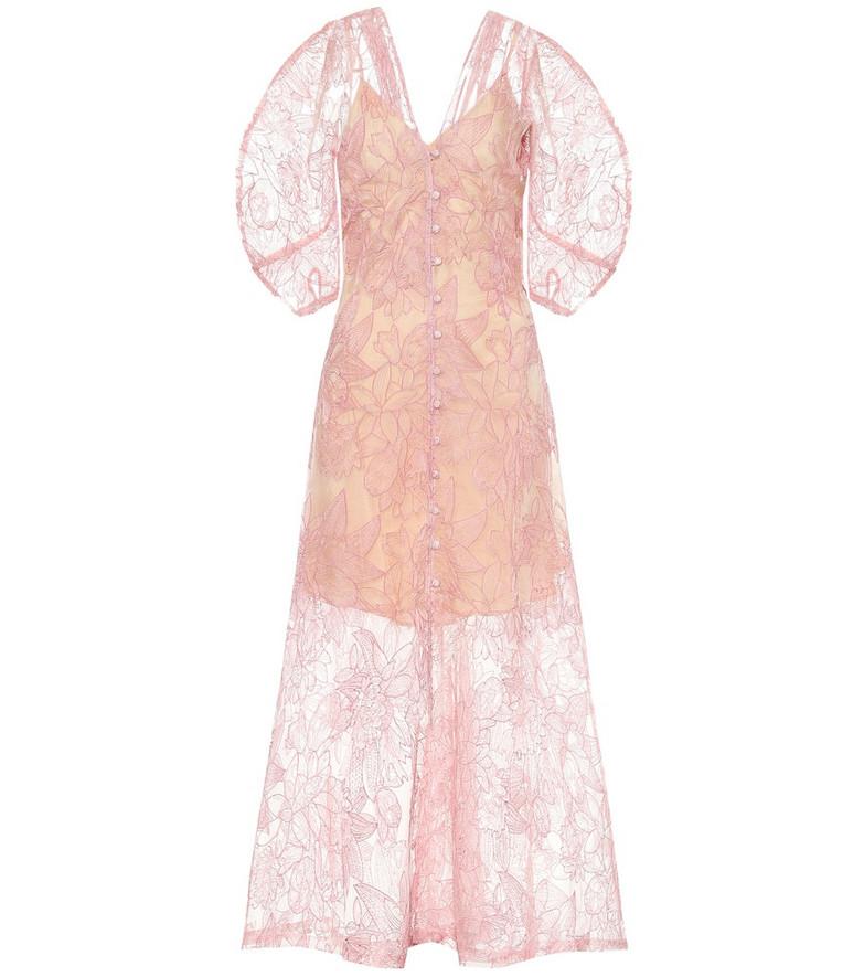 Cult Gaia Tilda silk lace maxi dress in pink