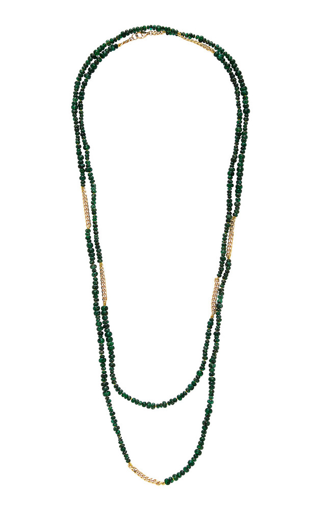 Objet-a Anton 18K Gold And Emerald Necklace in green
