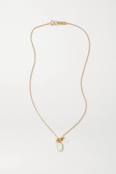 Isabel Marant - Gold-tone Horn Necklace - Ivory
