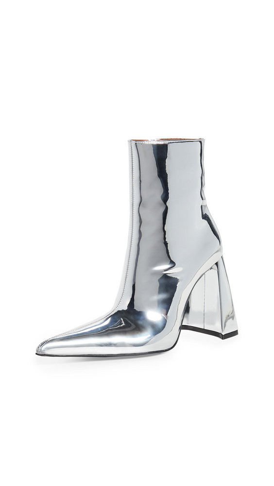 Area A Heel PVC Boots in silver