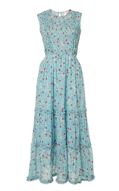 Banjanan Isha Printed Cotton Midi Dress Size: XS in print