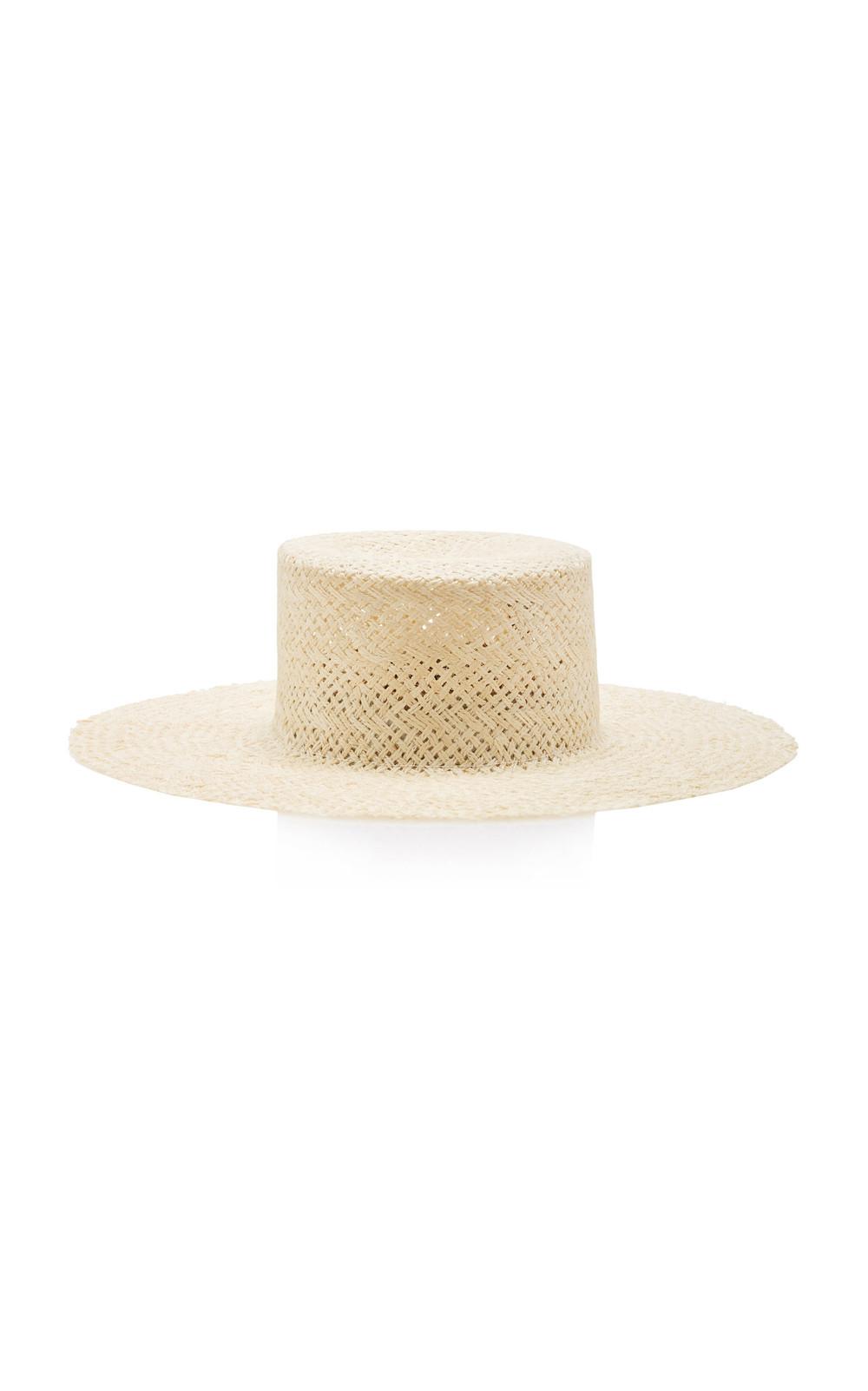 Janessa Leone Beatrice Straw Hat in neutral