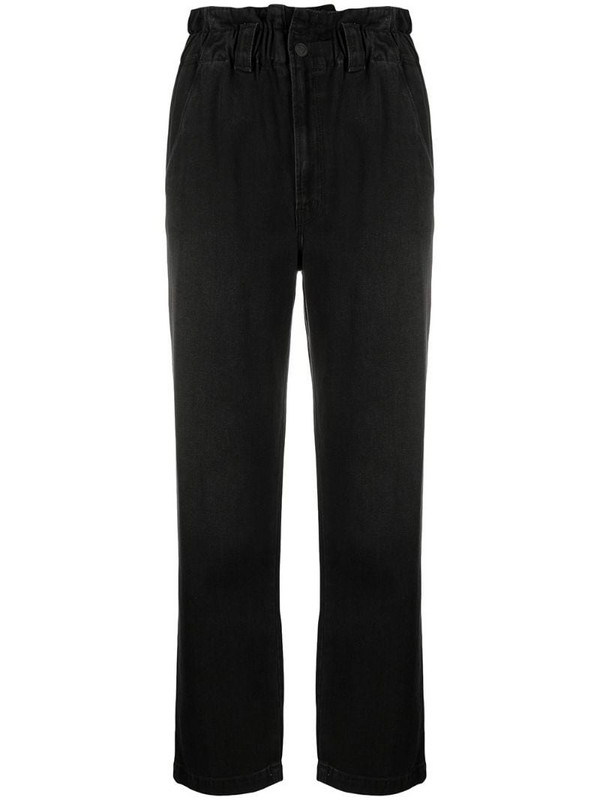 Mother paperbag-waist jeans in black
