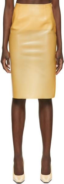 Kwaidan Editions Latex Skirt in natural