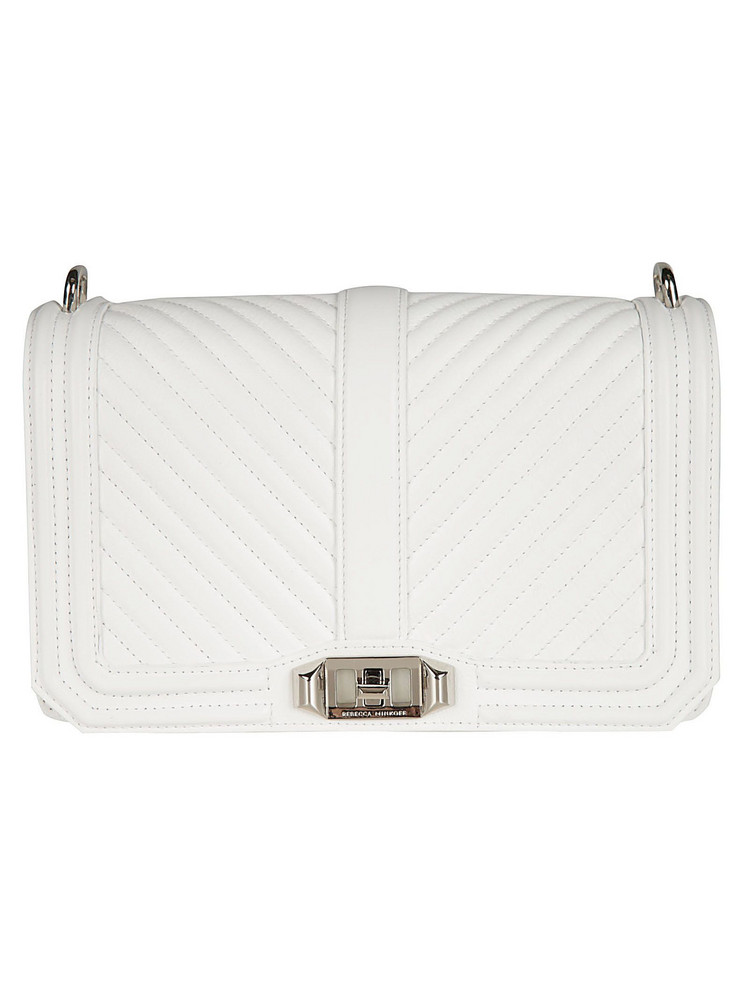 Rebecca Minkoff Quilted Love Shoulder Bag in white