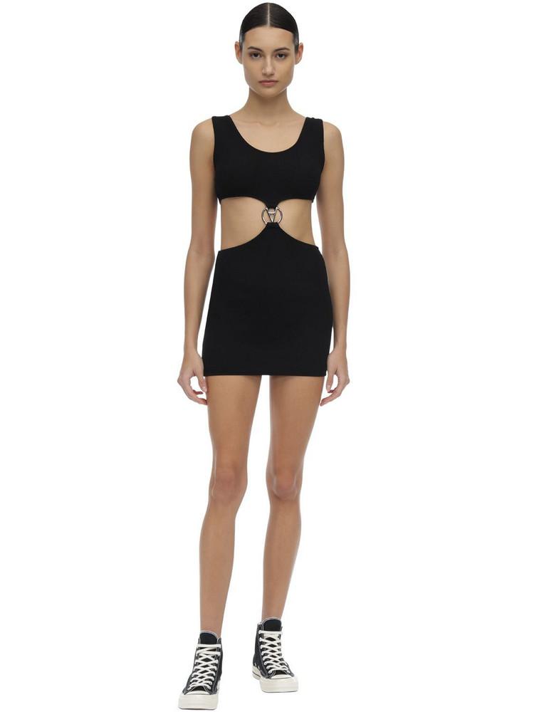 FILLES A PAPA Poppy Stretch Mini Dress in black