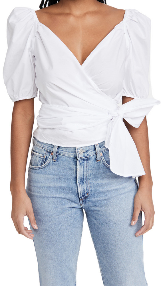 Citizens of Humanity Areli Wrap Top in white