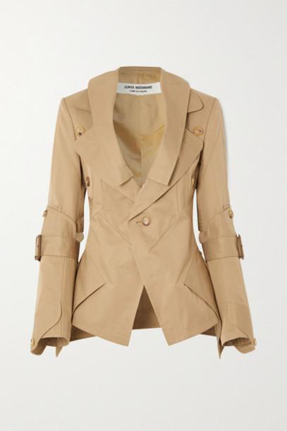 Junya Watanabe - Paneled Cotton-blend Twill Blazer - Beige