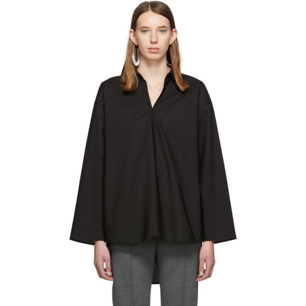 MM6 Maison Margiela Black Keyhole Shirt