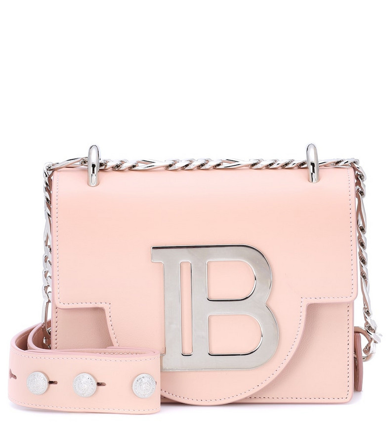 Balmain BBag 18 leather crossbody bag in pink