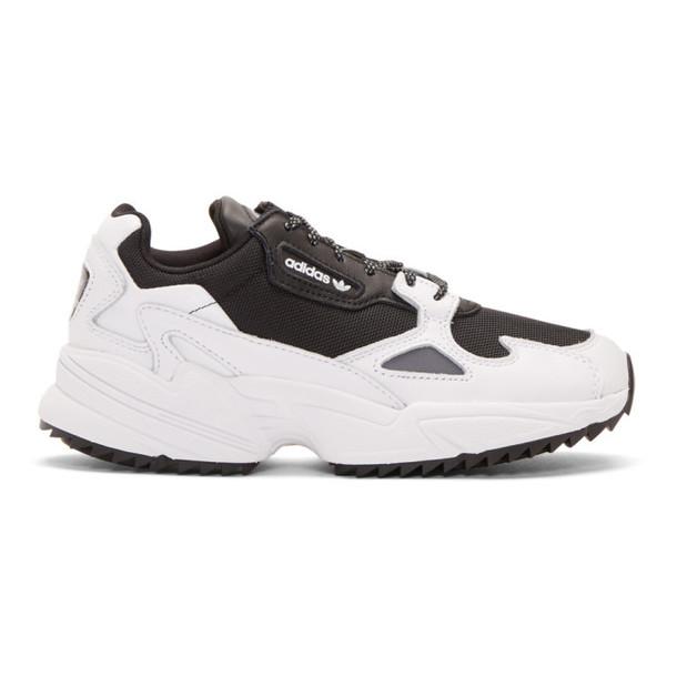 adidas Originals Black and White Falcon Trail Sneakers