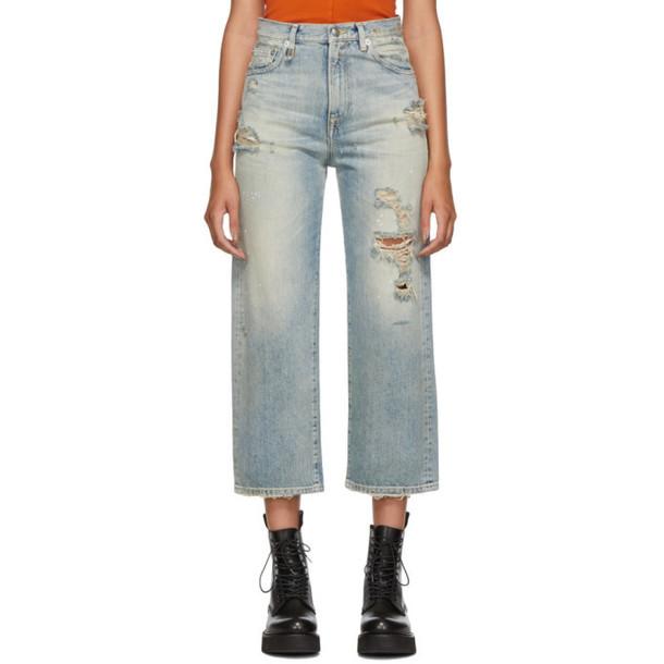 R13 Blue High-Rise Camille Jeans