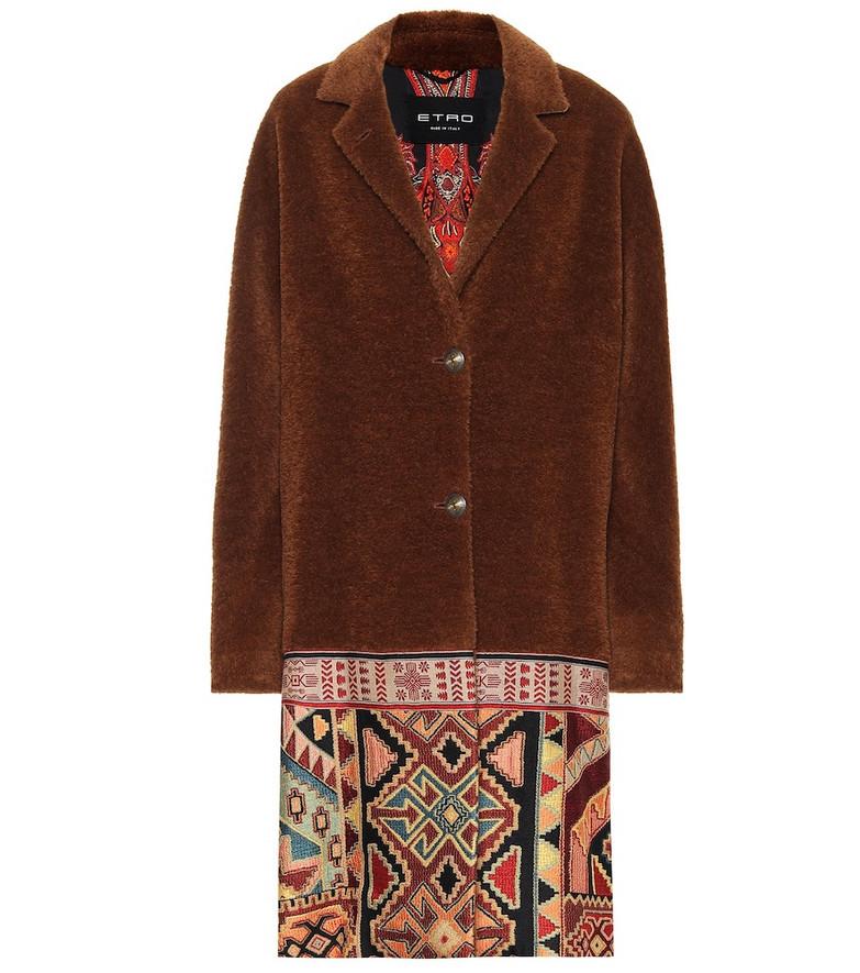Etro Wool and alpaca-blend coat in brown