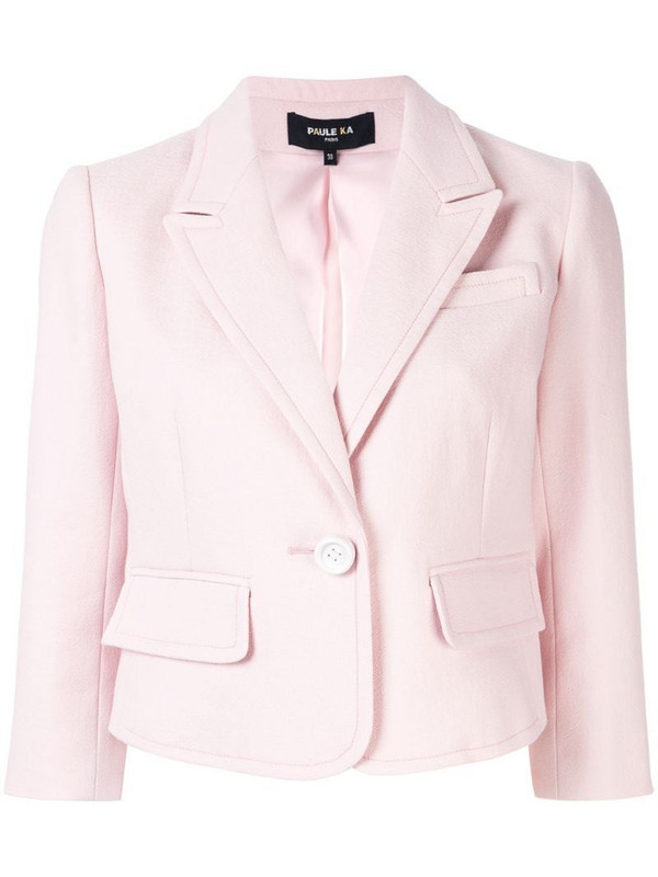Paule Ka classic fitted blazer in pink