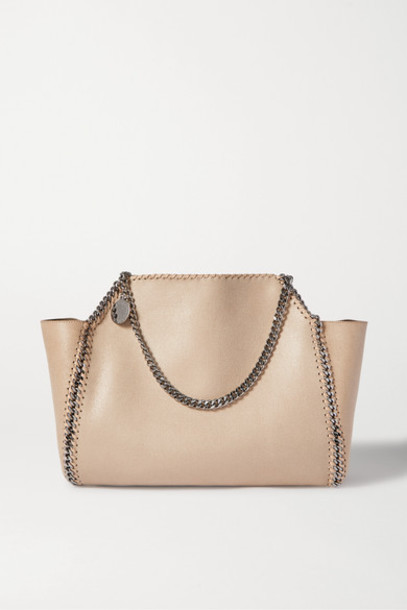 Stella McCartney - The Falabella Medium Faux Brushed-leather Tote - Cream