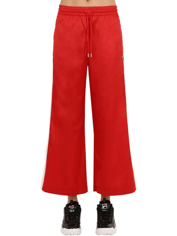 FILA URBAN Woven Pants W/ Side Bands in red