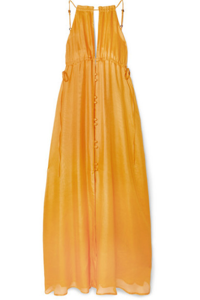Cult Gaia - Agatha Silk-gauze Maxi Dress - Yellow