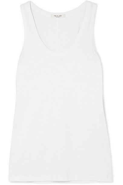 rag & bone - Slub Stretch-pima Cotton-jersey Tank - White