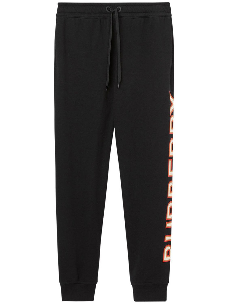 BURBERRY Esmee Jersey Sweatpants W/ Printed Logo in black