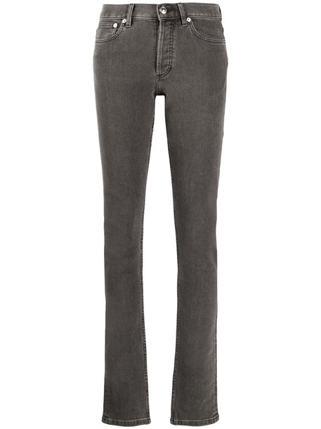 A.P.C. low-rise straight leg jeans in grey