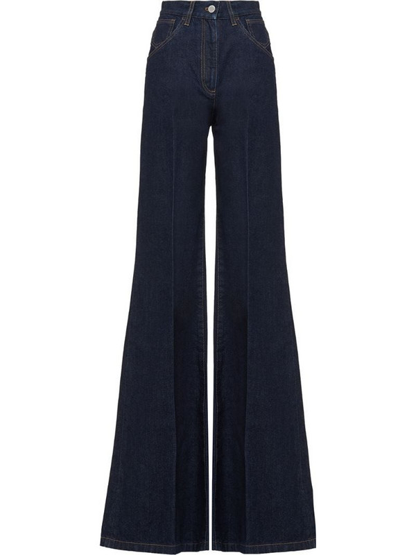 Prada high-waisted flared jeans in blue