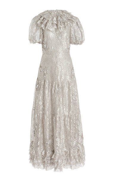 Erdem Elinor Dress in silver