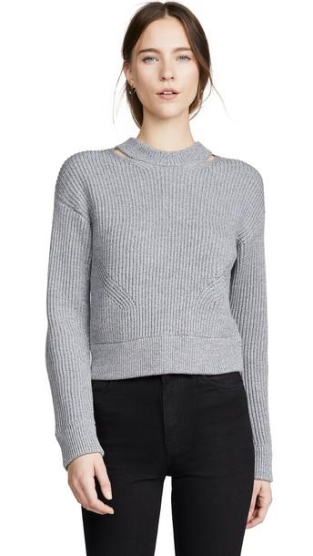 Proenza Schouler White Label Chunky Rib Pullover in grey